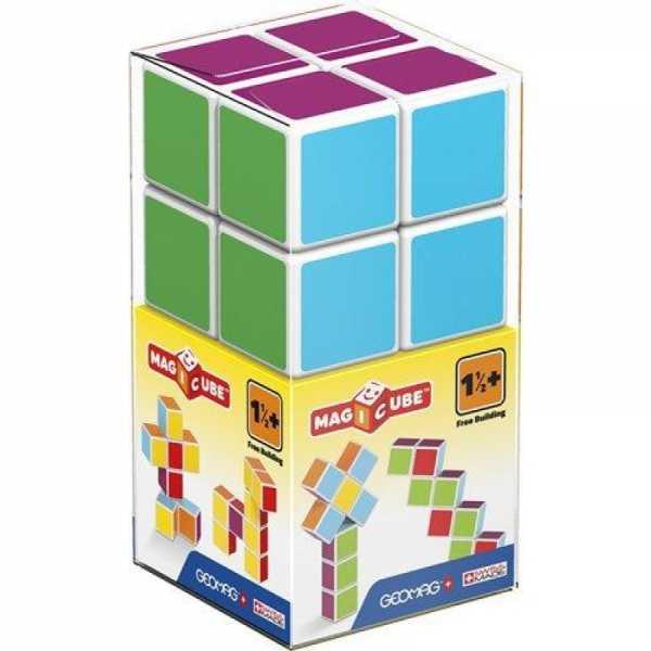 GEOMAG Magicube Free Building 127 - Cubi Magnetici Per Bambini - Multicolore - Confezione Da 8 Cubi