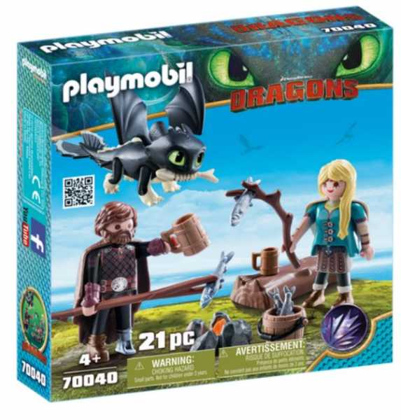 PLAYMOBIL DRAGONS III HICCUP E ASTRID (70040)