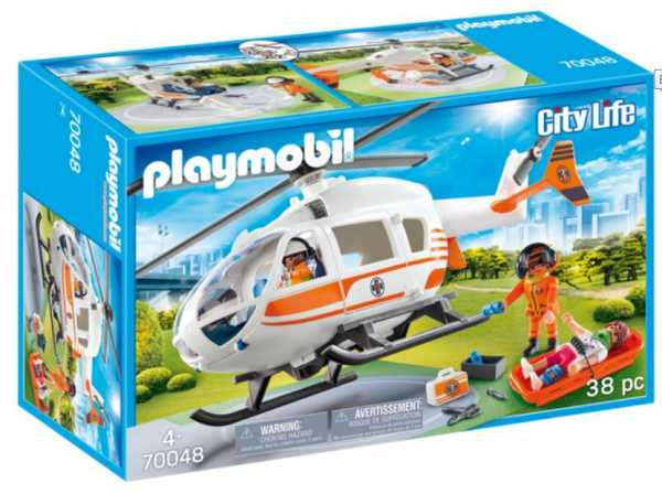 Playmobil City Life - Elisoccorso, Dai 4 Anni, 70048