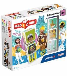 Geomag-Magicube Mix & Match Gioco Di Costruzione Magnetico, Multicolore, 6 Cubi
