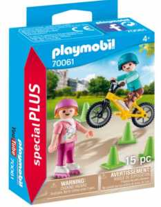 PLAYMOBIL BAMBINI CON PATTINI E BMX (70061)