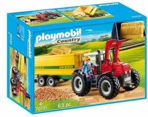 Playmobil 70131 - Trattore Con Rimorchio Per Mangime
