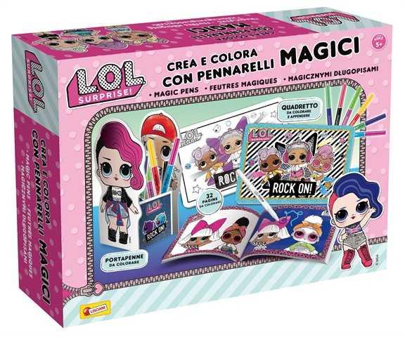 Lisciani Giochi Crea E Colora Con Pennarelli Magici, Multicolore, 75089
