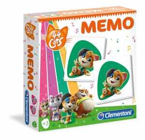 Clementoni-44 Memo 44 Gatti, Multicolore, 18049
