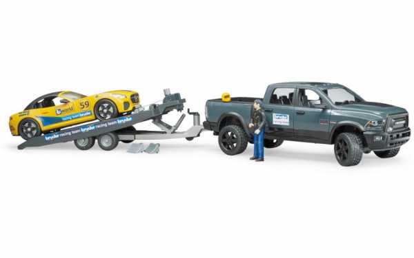Bruder- 2504 RAM 2500 Power Wagon E Roadster Racing Team, Multicolore, 02504