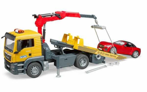 Bruder 3750 TGS - Camion Da Traino, Multicolore