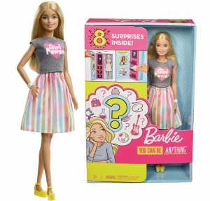 Barbie Carriere Con Abiti A Sorpresa, Bambola Bionda Con 2 Vestiti E Accessori Da Scoprire, Per Bambini 3+ Anni, GFX84