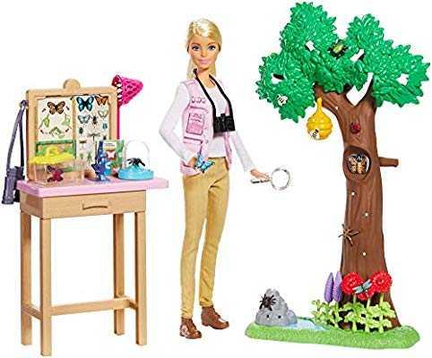 Mattel F-Barbie ENTOMOLOGA Con 10 Insetti