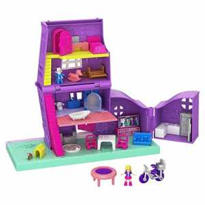 Polly Pocket Casa Di Polly, Playset Richiudibile Con Bambola E Accessori, Giocattolo Per Bambini 4+ Anni, GFP42