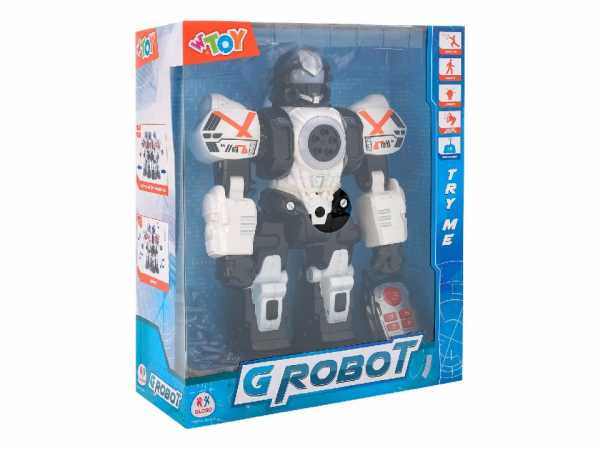Globo B/O I/R Robot W/Lights/Sounds/Bullets Try-Me (39089), Multicolore (1)