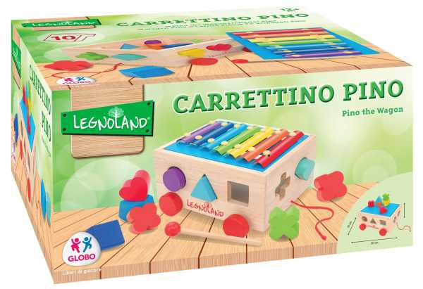 CARRETTO ATTIVITA' LEGNO XILOFONO 10 FORMINE - Globo (39411)