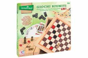 GIOCHI RIUNITI 6 IN 1 LEGNO - Globo (39424)