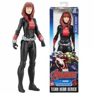 Marvel Avengers: Endgame - Vedova Nera Black Widow Titan Hero Compatibile Con Power FX (Action Figure Da 30 Cm, Power FX Non Incluso)