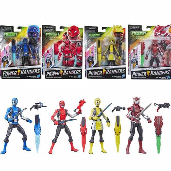 Hasbro Power Rangers- Beast Morphers Action Figure Da 15 Cm, Rosso, Multicolore, E5941ES1