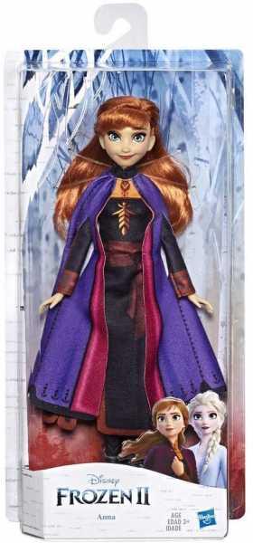Disney Frozen 2 - Anna, Fashion Doll Con Capelli Lunghi E Abito Blu, Ispirata Al Film Frozen 2