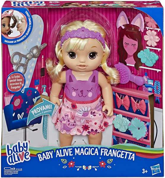 Hasbro Alive Snip N Style Baby BLD Hair Italy, Multicolore, E5241