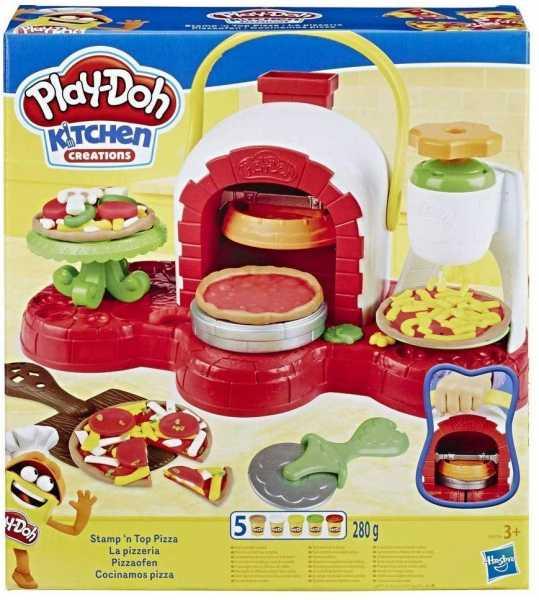 Hasbro Play-Doh Play-Doh-La Pizzeria (playset Con 5 Vasetti Di Pasta Da Modellare), Multicolore, E4576EU4