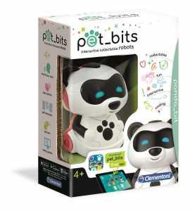 Clementoni- Panda Bit Sapientino Pet Bits Robot Educativo Collezionabile Coding, Multicolore, 12098