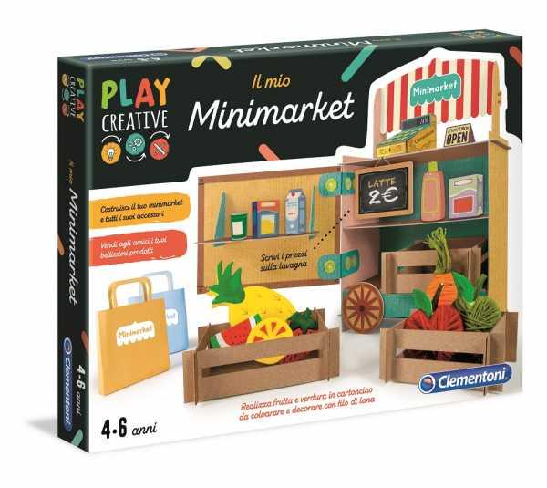 Clementoni- Play Creative-Il Mio Minimarket, Multicolore, 18538