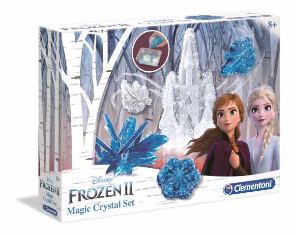 Clementoni- Disney Frozen 2-Magic Crystal Set, Gioco Scientifico, Multicolore, 18524