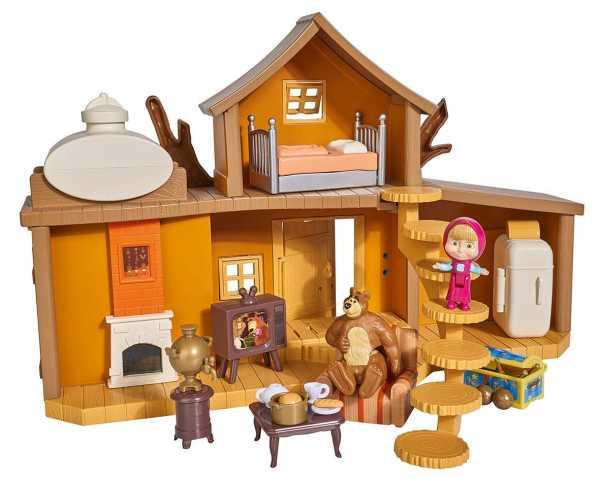 Simba- Casa Grande Di Masha E L' Orso Con Personaggi 35 X 22 X 11 Cm, Colore, 0, 109301032