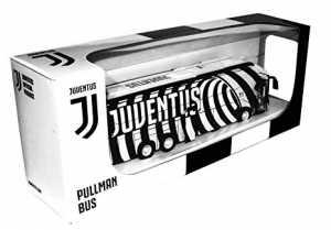 Mondo Motors - Pullman Juventus F.C. Modellino Giocattolo - Bus Con Retrocarica Frizione Pull Back - Colore Bianco Nero - 51212