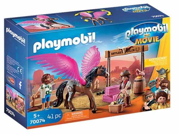 Playmobil The Movie Marla E Del Con Cavallo Alato Dai 5 Anni, 70074