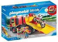 Playmobil City Life 70199, Carro Attrezzi Con Moto, Dai 4 Anni