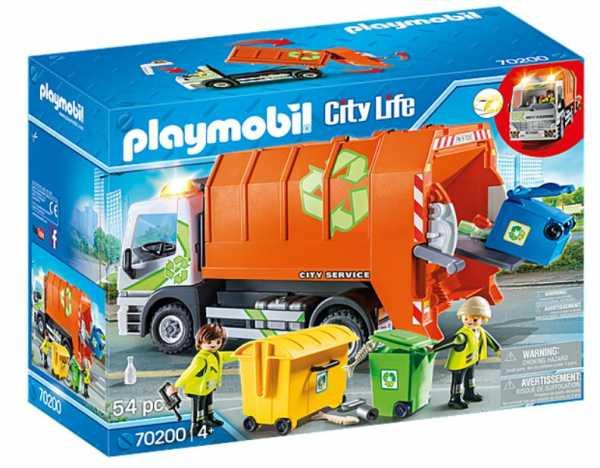 Playmobil- City Life Giocattolo Camion Della Raccolta Differenziata, Multicolore, 54 Pezzi, 70200
