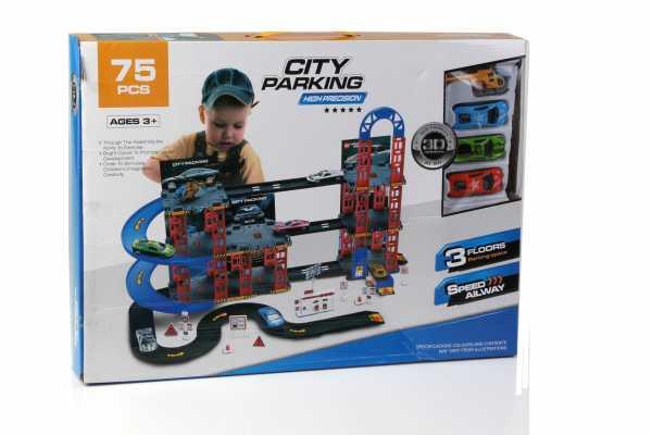 ODG Garage Gioco Per Bambini Con Macchinine E Pista Automobili Giocattolo 3 Piani Con Accessori