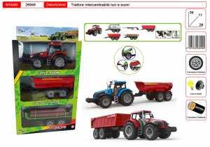 SET TRATTORE LUCI E SUONI CON RIMORCHI CM 40 - Toys Garden (26949)