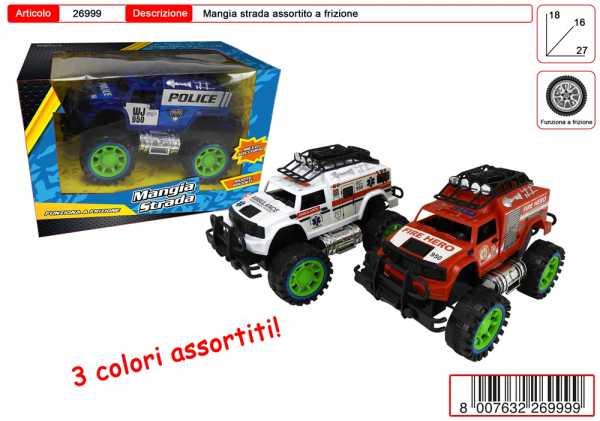 AUTO BIG FOOT  FRIZIONE 3 COLORI CM 20 - Toys Garden (26999)