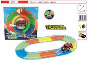 Pista Fluo Race SNODATA 102CM Toys Garden 26815