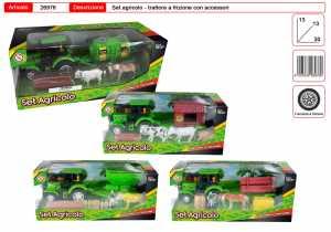 TRATTORE PLAYSET CON RIMORCHIO CM 24 - Toys Garden (26976)