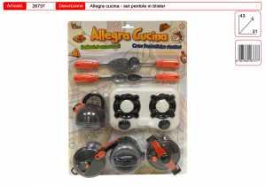 Set SET CUCINA FORNELLO CM 18 PENTOLE CC - Toys Garden (26737)