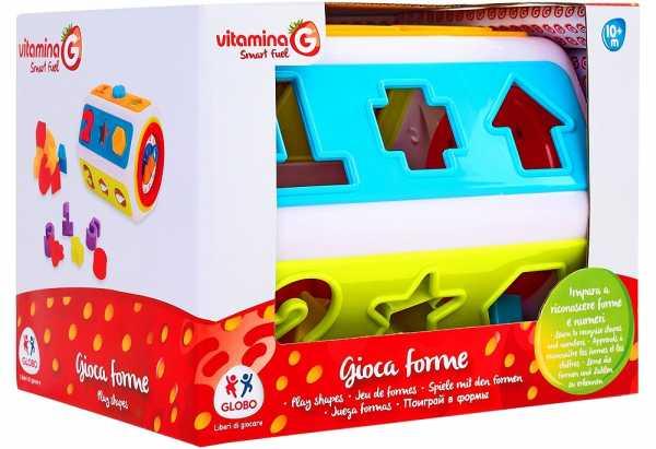 Vitamina G- Cilindro Attività Con Formine Incastro, 05244