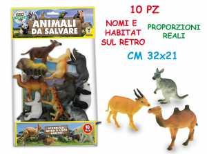 BUSTA ANIMALI DA SALVARE 10 Pezzi - Teorema (72207)