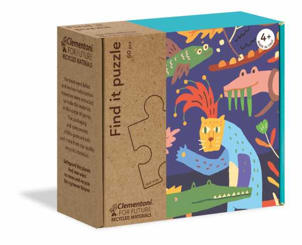 Clementoni-16221-Find It Bungle In The Jungle, Puzzle Bambini, Multicolore, 16221