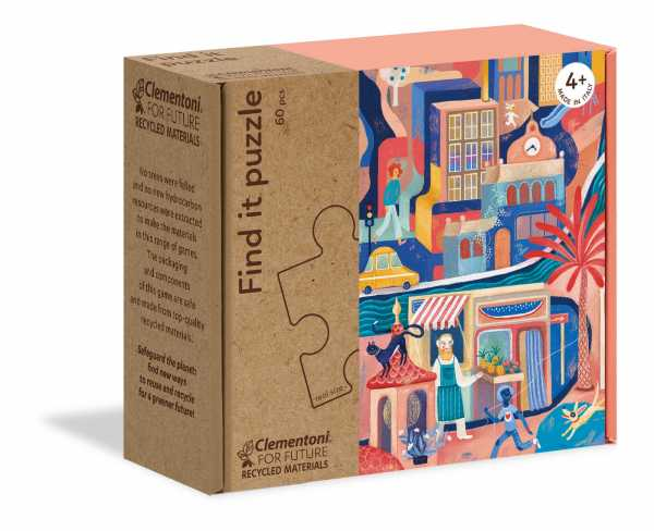 Clementoni-16222-Find It Sweetest City, Puzzle Bambini, Multicolore, 16222