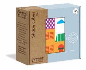 Clementoni-16227-Shapes Cubes-Case E Casette, Cubi Per Bambini, Multicolore, 16227