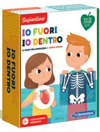 Clementoni- Sapientino L'Emozione Di Imparare-Io Fuori, Io Dentro-Made In Italy-Play For Future, Corpo Umano, Gioco Educativo 4 Anni, 16243