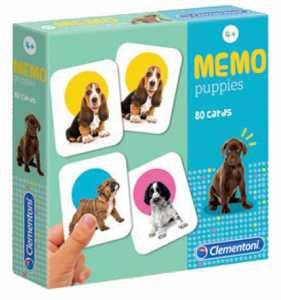 Clementoni - 18078 - Memo Games Puppies - Made In Italy - Memory - Gioco Di Memoria Bambino Dai 4 Anni - Gioco Da Tavolo Board Games, Italiano