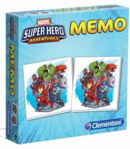 Clementoni - 18075 - Memo Games Super Hero Marvel Avengers - Made In Italy - Memory - Gioco Di Memoria Bambino Dai 4 Anni - Gioco Da Tavolo Board Games, Italiano