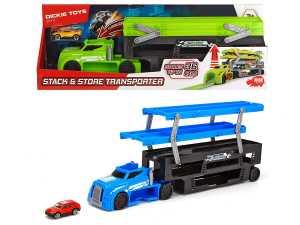 Dickie Toys- Stack And Store Transporter Bisarca Con Spazio Per 36 Veicoli, Colore Verde, 203747002