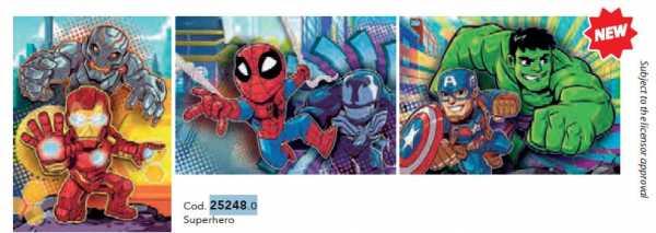 PUZZLE 3X48 Pezzi SUPER HERO - Clementoni (25248)