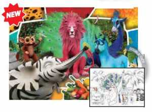 PUZZLE 104 Pezzi SAFARI DOUBLE FACE - Clementoni (25700)