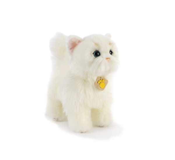 Plush &-PLUSH & Whitty Gatto Bianco 28Cm Peluches Gatti, Multicolore, 8029956159459