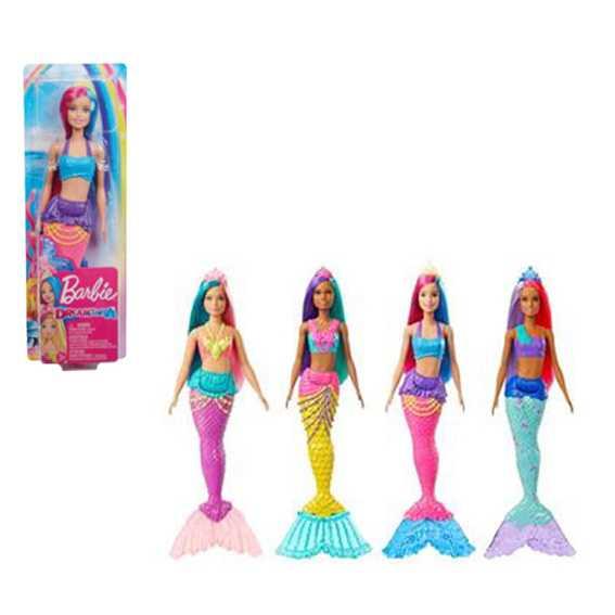 Barbie- Dreamtopia Bambola Sirena Con Capelli Rosa E Viola Giocattolo Per Bambini 3+ Anni, GJK09