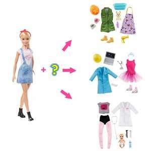 Barbie- Carriere A Sorpresa Bambola E 2 Outfit Ingegnere E Pattinatrice Giocattolo Per Bambini 3+ Anni, GLH62