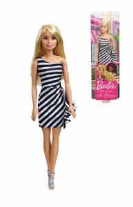 Barbie 60° Anniversario, Bambola Bionda Con Outfit Iconico Bianco E Nero, Giocattolo Per Bambini 3 + Anni, FXL68